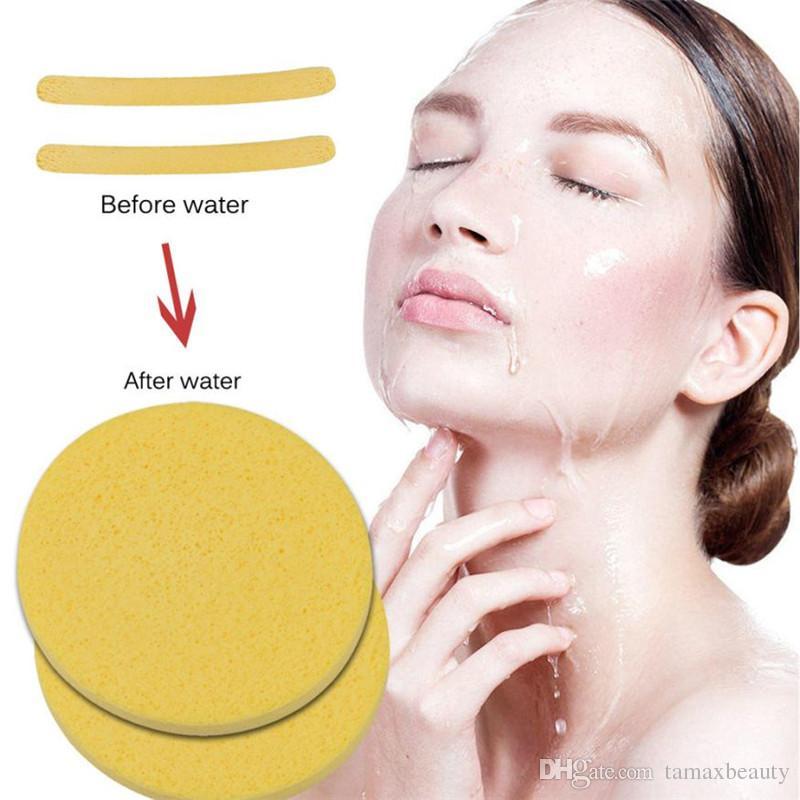 Tamax НОВЫЙ макияж Компактная губка из морских водорослей Волшебная губка для чистки лица Косметическая пуховка Очищающая губка для умывания Средства для макияжа лица Puff