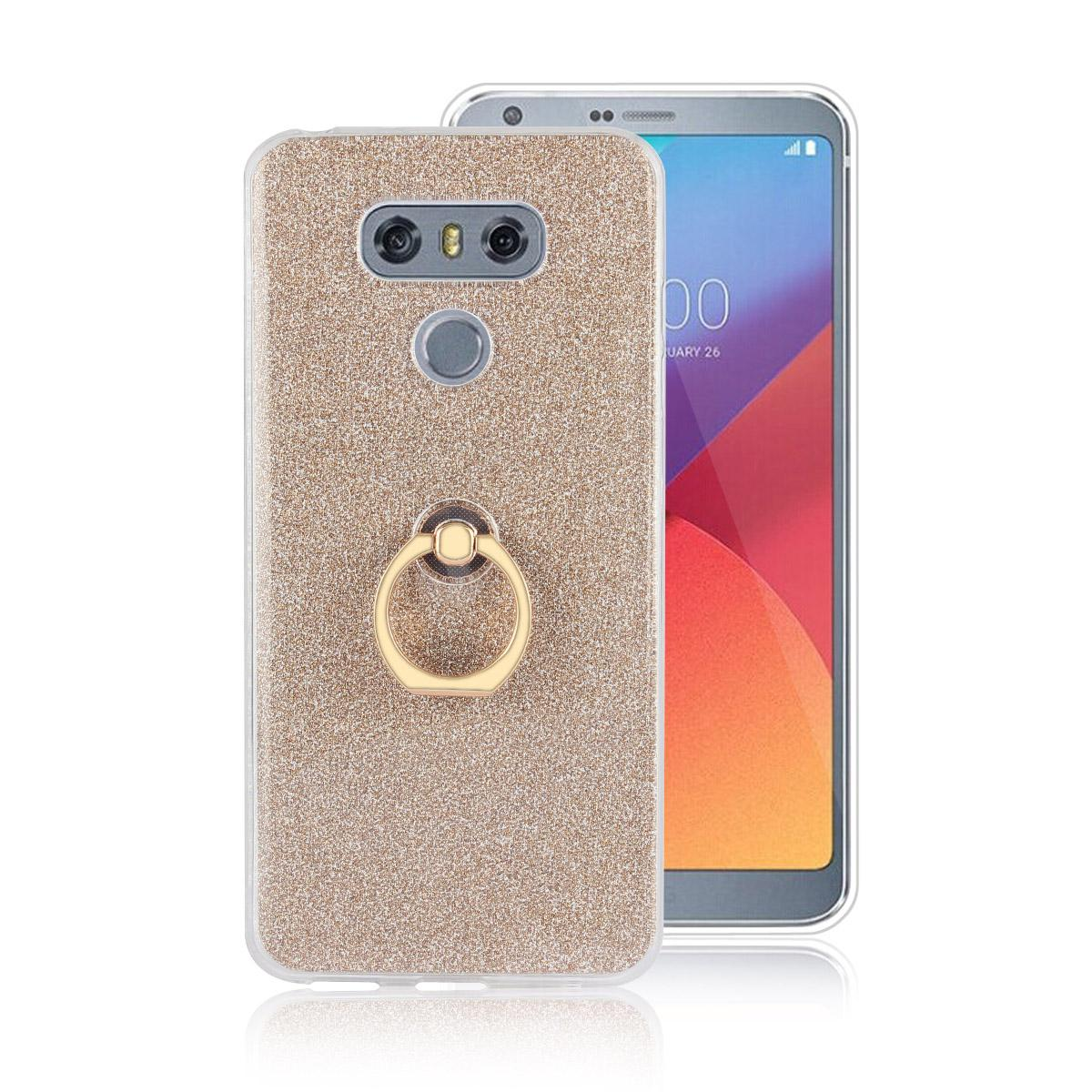 9e8f4d37e74afe TPU Soft Shell Case For LG G5 G6 With Ring Kickstand Stand 2 In 1  Transparent & Flash Shimmering Powder For Women Leather Cell Phone Case  Unique Cell Phone ...