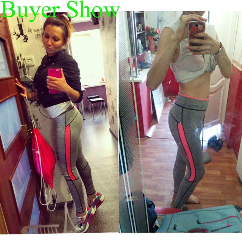 2017 Женщины Леди Activewear розовый леггинсы весна лето светло-серый брюки осень 1208 американский оригинальный заказ