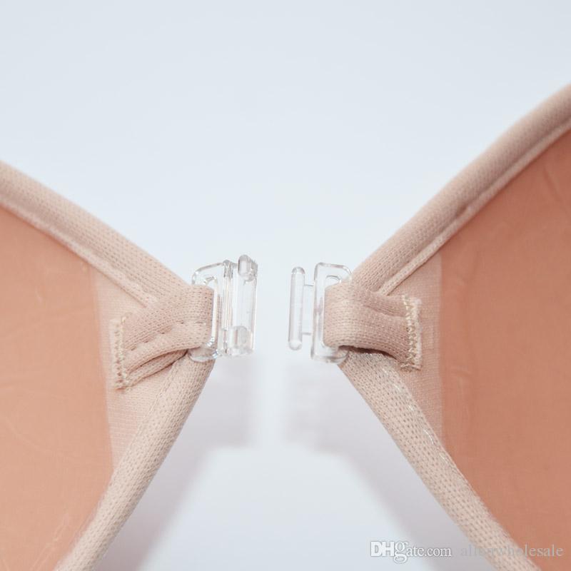 Sexy Push Up Invisible Bra Women Self Adesive Silicone Front Closure Strapless Invisible Intimates