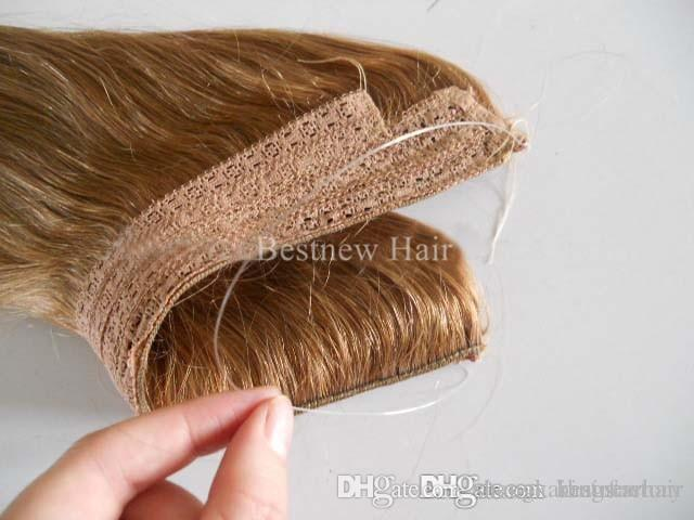 Brown Hot Sale Brazilian Human Hair No Clips Halo Flip In Hair