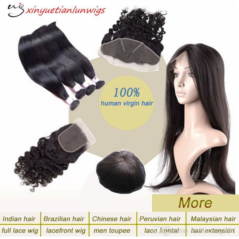 fast delivery natural straight free style human hair weaving lace wig accept customized samples full lace human hair wigs