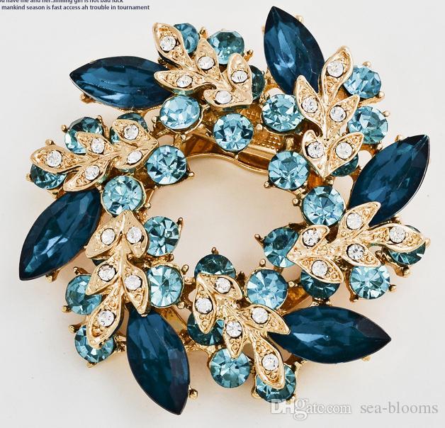 11 стили 60 мм старинные горный хрусталь брошь Pin Bling Кристалл Bauhinia цветок прозрачный кристалл горный хрусталь цветочный венок Pin брошь B529S