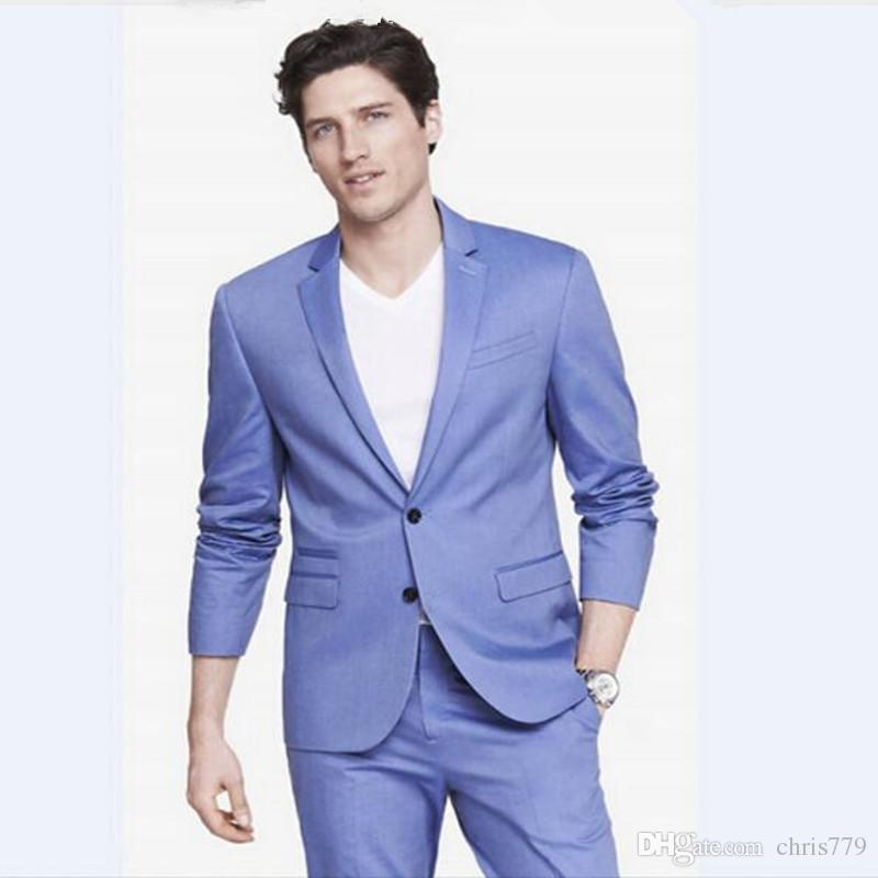 Blue dress pants design