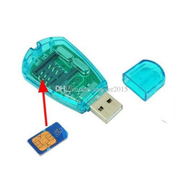 Lectores de tarjeta MINI SIM Escritor Backup CDMA Lector de tarjeta CDMA con unidad de CD Para copia de seguridad SMS a PC Azul