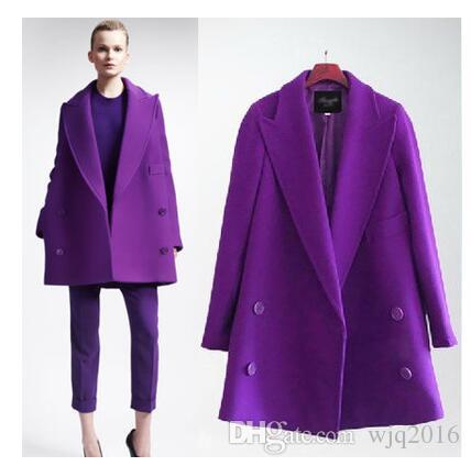 2017 Xl 5xl Women Coat Purple Woolen Plus Size Clothes Good Long ...