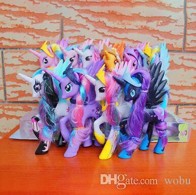 Caballos de plástico Lindo patrulló PVC Unicornio Juguetes Para Cumpleaños Muñeca navideña Muñeca Gifthorse Muñeca Brithday Regalo Para niños juguetes