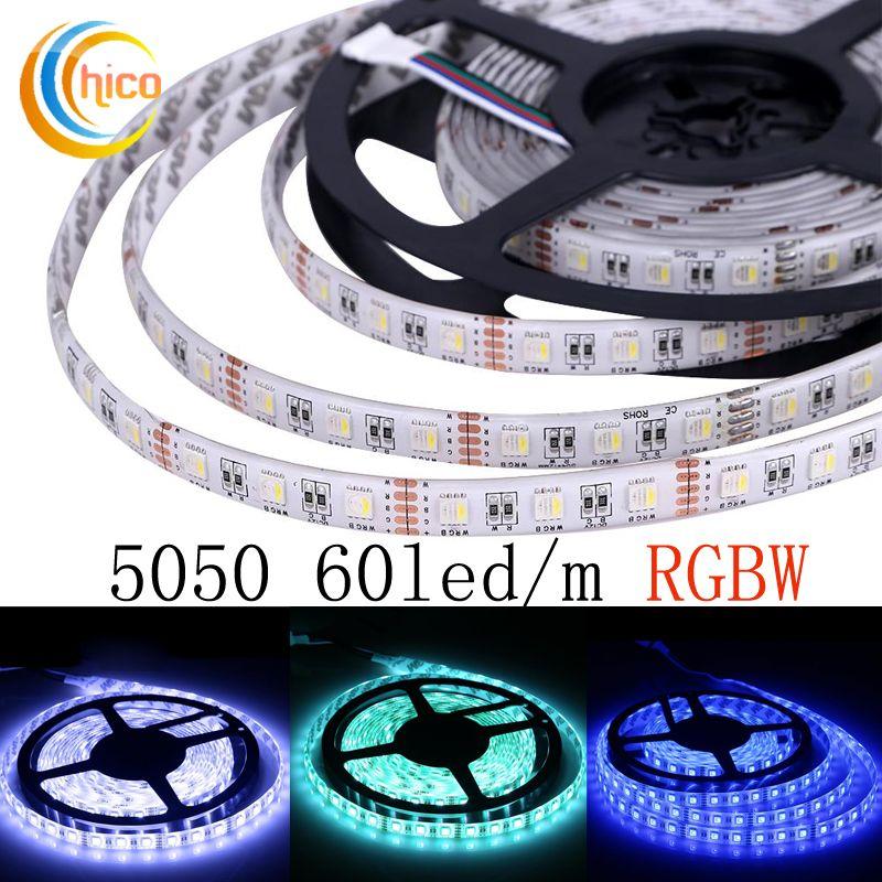 12V 5M SMD 5050 300 LED RGB WW CW Waterproof Flexible Tape Light Strip lamp
