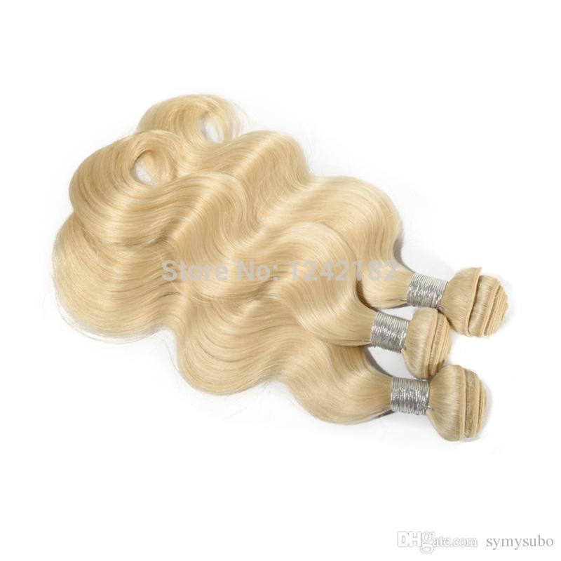 Grade 7A Unprocessed Virgin Hair Malaysian Body Wave Natural Wave Bleach Blonde,Human Hai Extensions Weave bundles