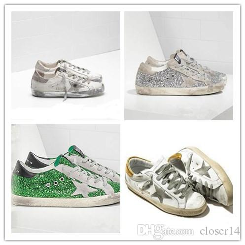 GooseGGDB Sequined Men Star Little Golden Silver With A Old Shoes drCBoex