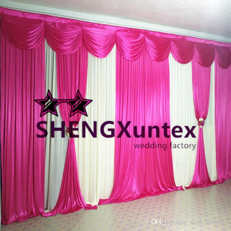 10ft * 20ft Hochzeit Backdrop Vorhang Include The Swag und Drapes