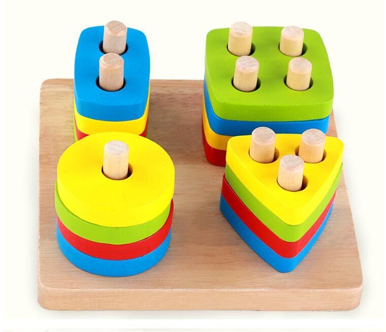 مصنع الجملة الخشب اللعب يتوهم اللعب في مرحلة الطفولة المبكرة خشبية مونتيسوري أن الإيدز لعب هندسي الشكل مطابقة كتل التجمع