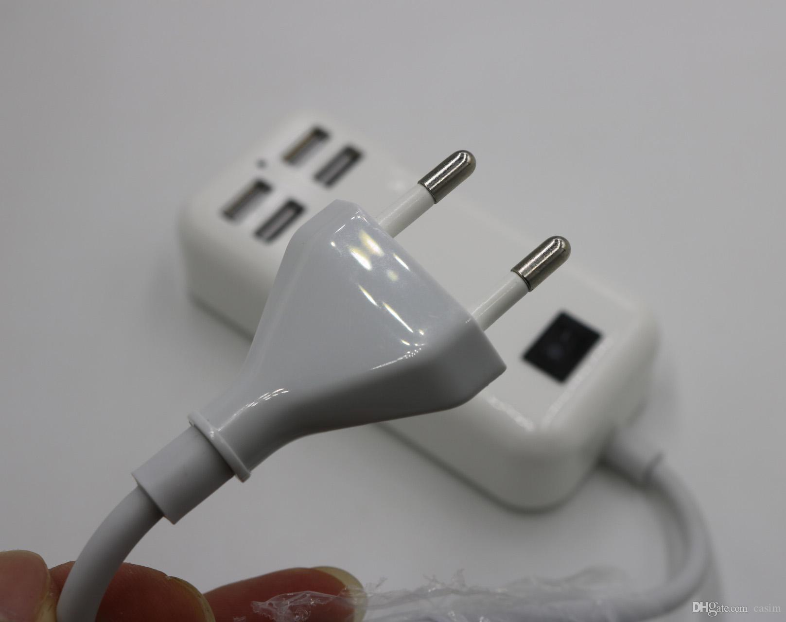 15 W 4 Port Masaüstü USB Evrensel Şarj Perakende Paketi ile Mikro USB Şarj Sync Dock Masaüstü USB Şarj