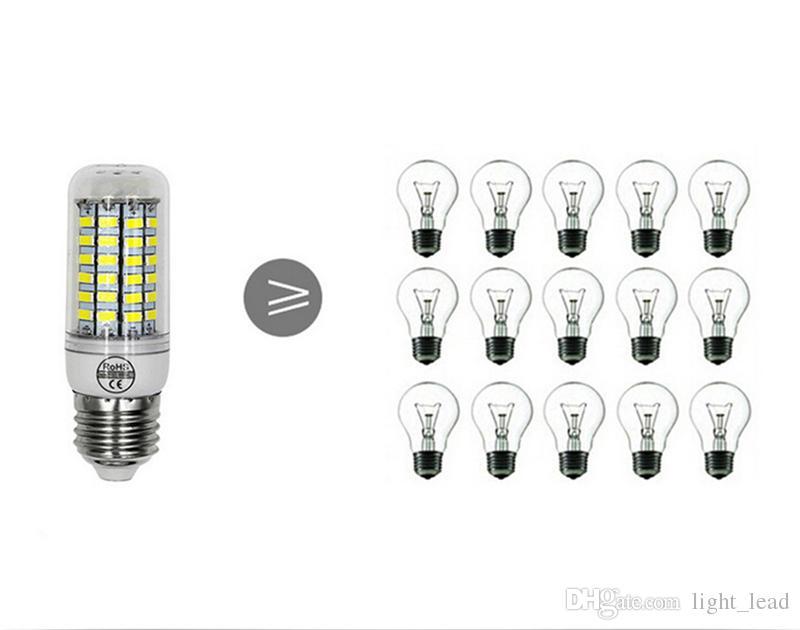 Bombilla LED de maíz 7W 12W 15W 20W 25W SMD 5730 Lámparas 110V 220V Araña LED Luz de vela Linterna del proyector