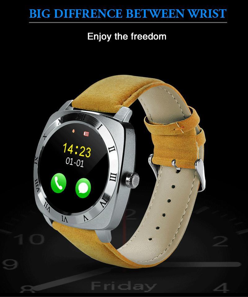 Новые умные часы X3 Шагомер Фитнес-часы Камера SIM-карта Mp3-плеер для Apple Android Watchphone