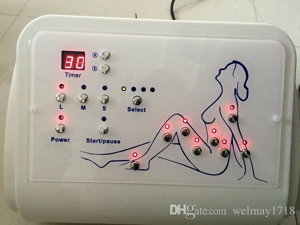 terapia do vácuo do spa drenagem da linfa máquina do tratamento da massagem do vácuo do massager do pé da circulação de sangue