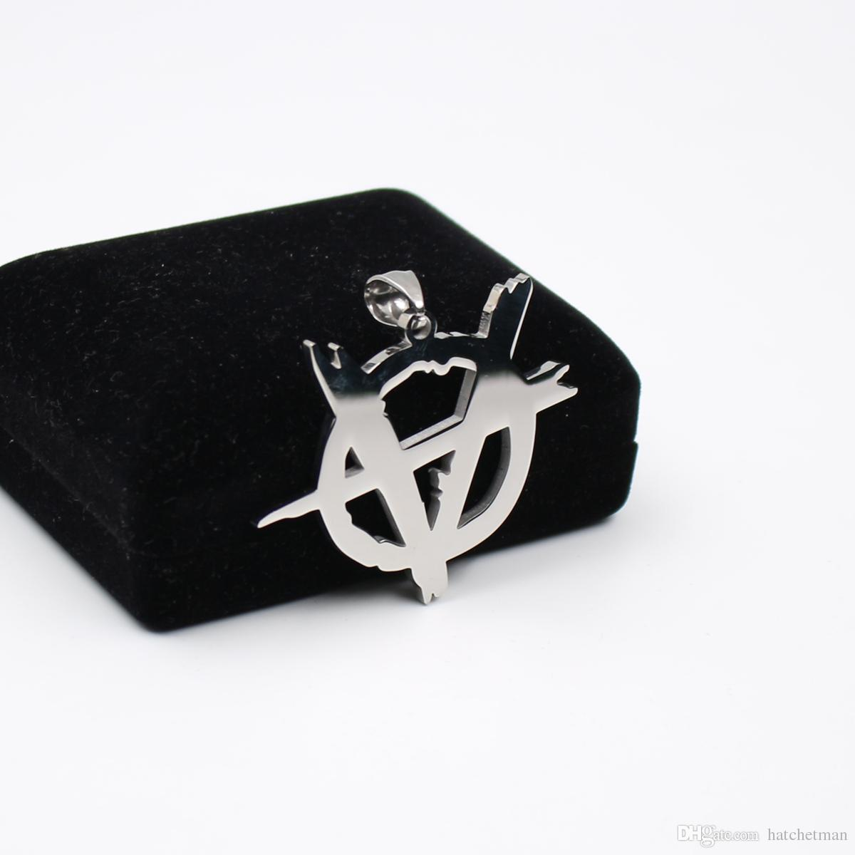 Specchio alto lucidato Twiztid Abominationz Logo Platinum Style charm pendente in acciaio inox Collana con sfera da 30 pollici DHL spedizione gratuita