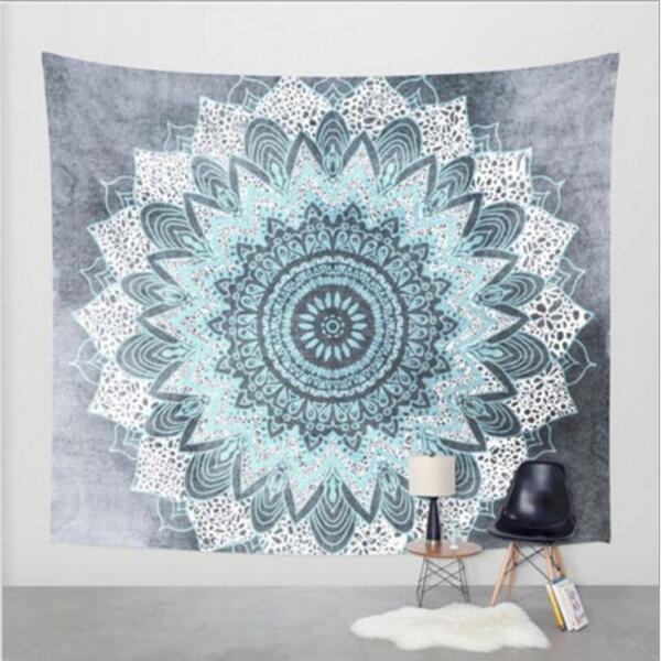 21 modèles Super Size 150 * 130cm Bohême Mandala Plage Tapestry Throw Hippie Tapis de yoga serviette indien polyester Plage Châle Serviette de bain DHL gratuit