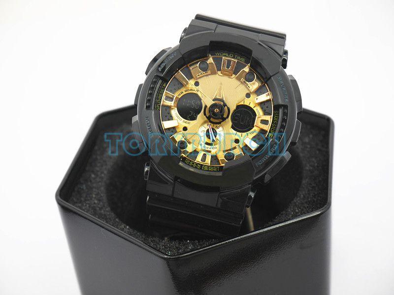 Роскошь высшего качества Relogio G120 жестяной коробочка мужских спортивных часов, популярные мужские часы LED все указатели работают стойкий 3ATM воды Wholsale