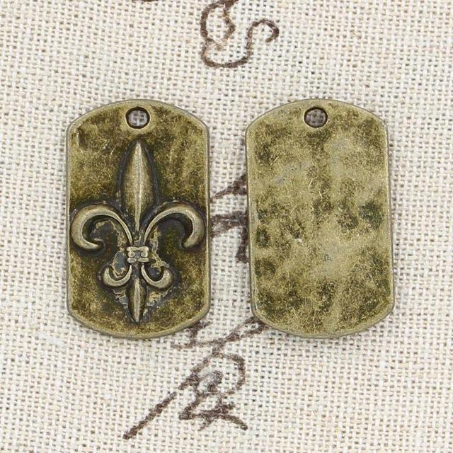 Wholesale 99Cents Charms FLEUR DE LIS 2817mm Antique Making Pendant FitVintage Tibetan BronzeDIY Bracelet Necklace Nurse Charm Chest