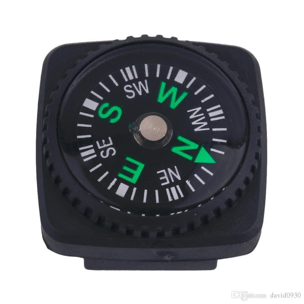 Portable 20mm Mini Taille Carré Forme Boussole En Cuir Type Pour Paracord Bracelet En Plein Air Randonnée Camping Survie outils