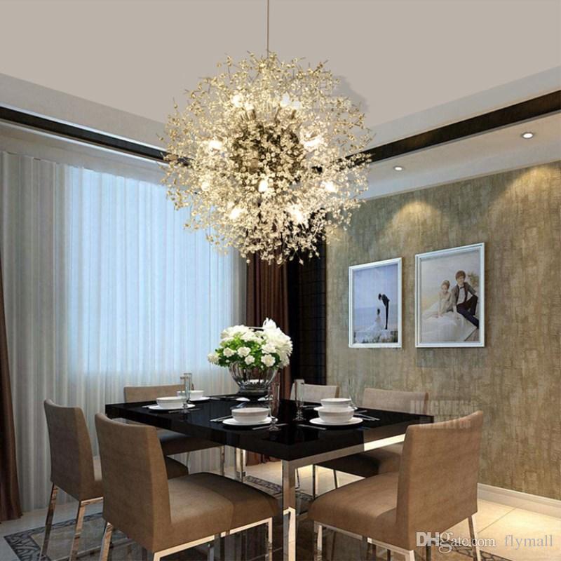 Soffitto moderna Dandelion LED lampadari di cristallo del globo della sfera di illuminazione Lampada a sospensione pranzo Camera da letto Soggiorno apparecchio di illuminazione