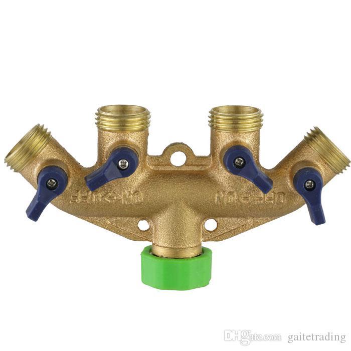 tuyau de séparation de tuyau vanne en laiton jardin eau connecteur d'irrigation gazon joint de tuyau raccord contrôlable interrupteur avec plastique