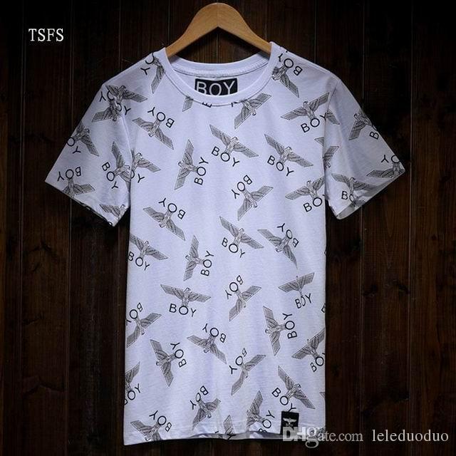 Moda 2015 Outono Inverno MENINO LONDRES Cadeia águia dos homens de Manga Longa Para Os Homens de Luxo Casual Magro manga longa Tees Polos Fit Elegante T-shirt