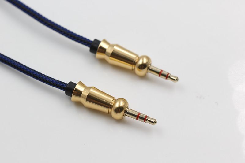 Unbroken Metal Connector Audio Cable Cable Auxiliary 3.5mm Male to Male Stereo Car Audio Cable 1M/3ft Extendable For Digital Device