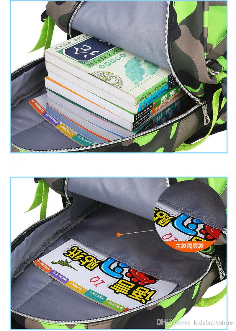 Moda de camuflaje Niños Mochila de viaje Mochila escolar Mochila Bolso de la computadora Bolso de hombro para niños niñas Niños