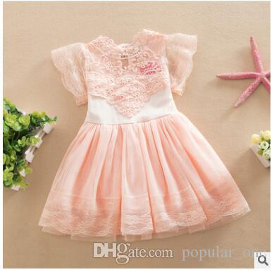 db66c06ca136 2019 Princess Girl Dress 2017 Summer Children Lace Flower Vestidos ...