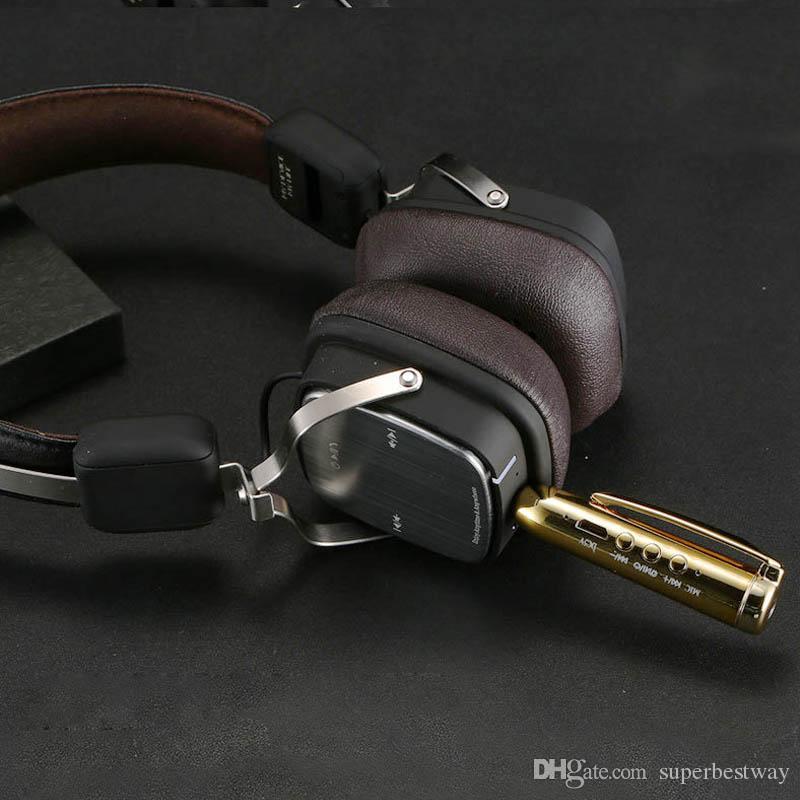 Kit de coche Bluetooth universal inalámbrico AUX Audio adaptador de receptor de música manos libres para teléfono móvil MP3 altavoz del auricular OTH607