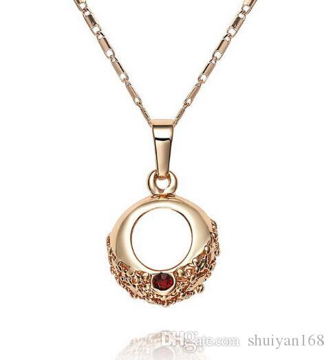 DHL 18k Gold Plated Necklace And Earring Set Jewelry Cheap Wholesale for Bridal Fashion Sweater Chain for Women Xmas Gift