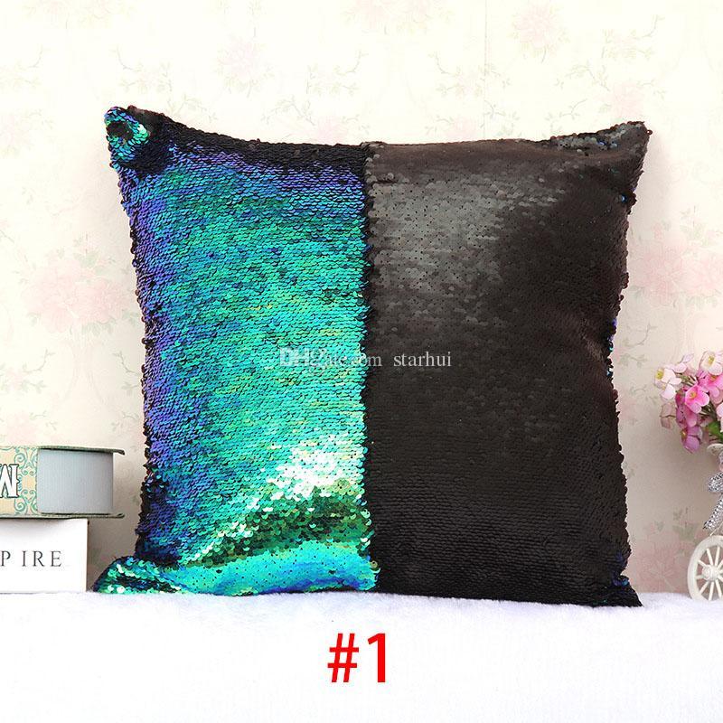 حورية البحر الترتر وسادة القضية طبقتان ديكور المنزل أريكة وسادة وسادة تغطي ديكور عيد الميلاد 31 نمط wx-p02 الشحن مجانا 40 * 40cm