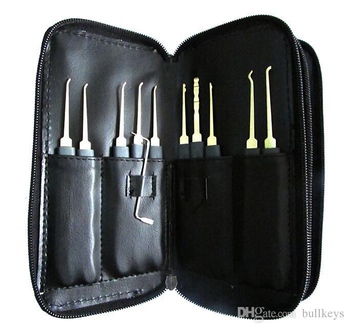 Buona qualità GOSO Titanize Hook Picks w / Bag fabbro strumento Lock Pick Set Lockpick attrezzi del fabbro