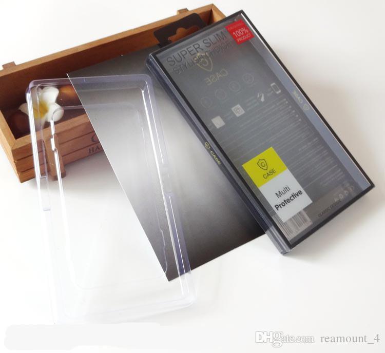 Toptan Klasik Telefon Arka Kapak için ZTE zmax pro z981 Cep Telefonu Kılıfı PVC Perakende Ambalaj Kutusu İç Tak ile iPhone 7 için