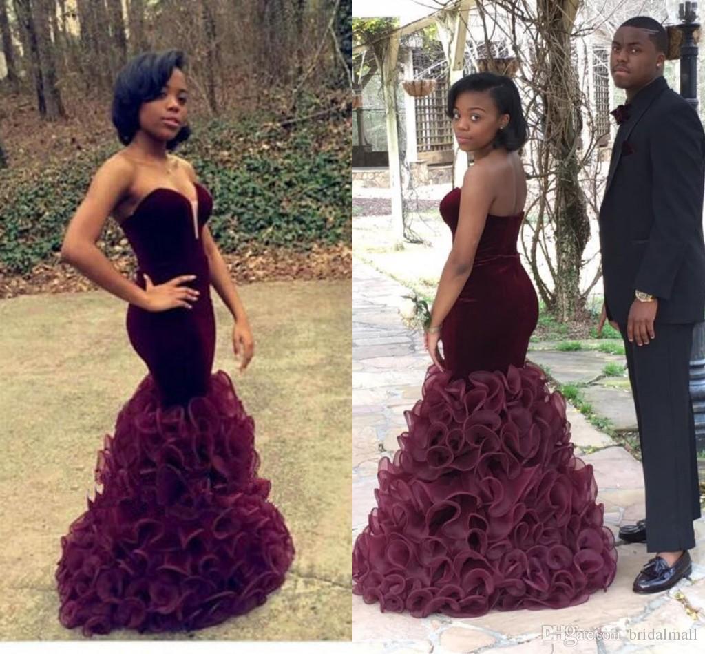 Unique Burgundy 2017 Evening Dresses Girl Sweet 16 Dress Maroon ...