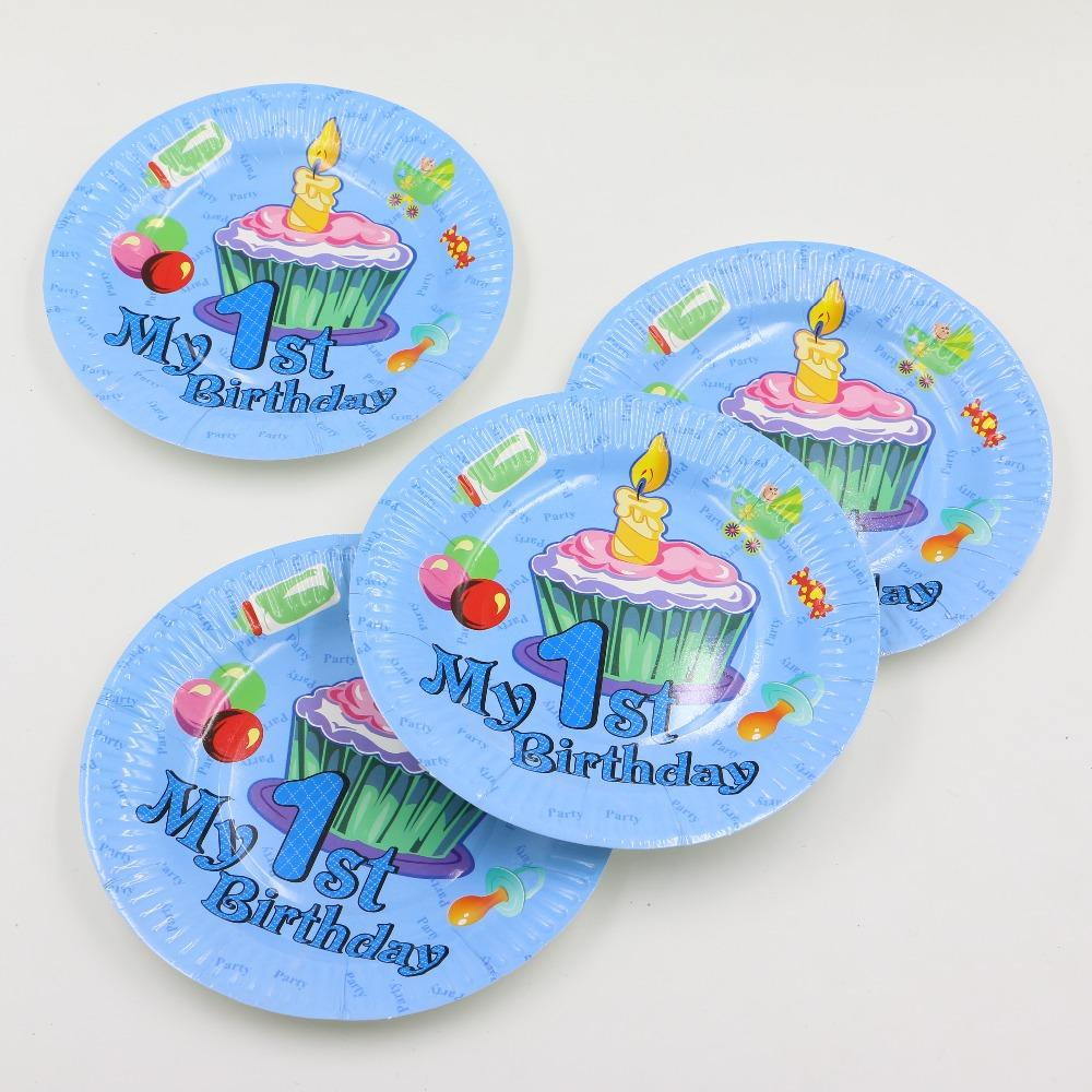 Wholesale-My 1st Birthday Theme Paper Plates Disposable Tableware Boy Kids Happy Birthday Party Paper Dishes Decoration Supplies Tableware Products ...  sc 1 st  DHgate.com & Wholesale-My 1st Birthday Theme Paper Plates Disposable Tableware ...