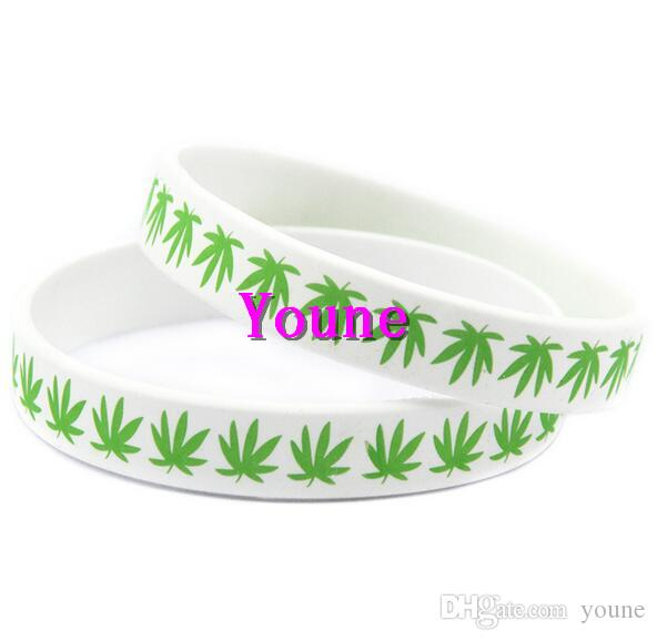 Hot Sale! Maple Leaf Jamaica Bracelet, Classic Printed Hip Hop Silicone Wristband, Promotion Gift, Silicon Wristband