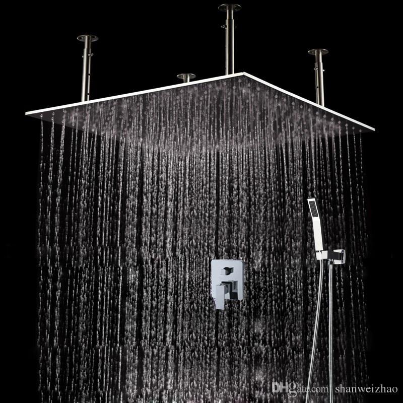 Bathroom Use Good Quality Rainfall Shower Head Set 500*500mm Square ...