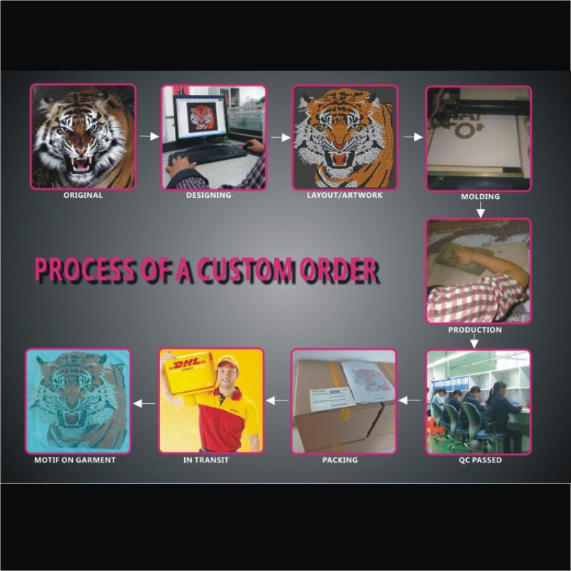 2017 shiny Titans hot fix RHinestone transfer designs custom DIY for your t-shirt each bag