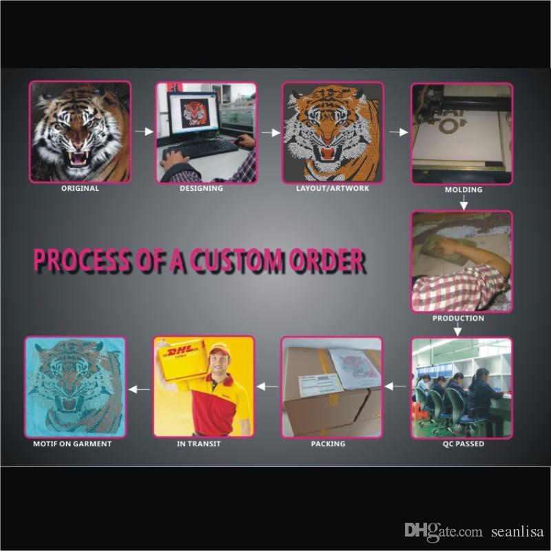 SK 341# Crystal green tree custom from china factory rhinestone transfer designs DIY iron on t-shirt
