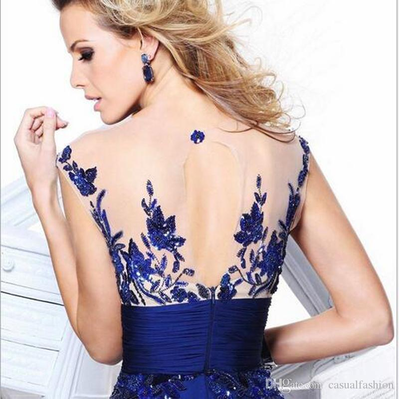Lace Elegant Blue And Red Backless Bridesmaid Dresses for Ladies Host Evening Row of Flowers Bridesmaid Dresses With High Quality.