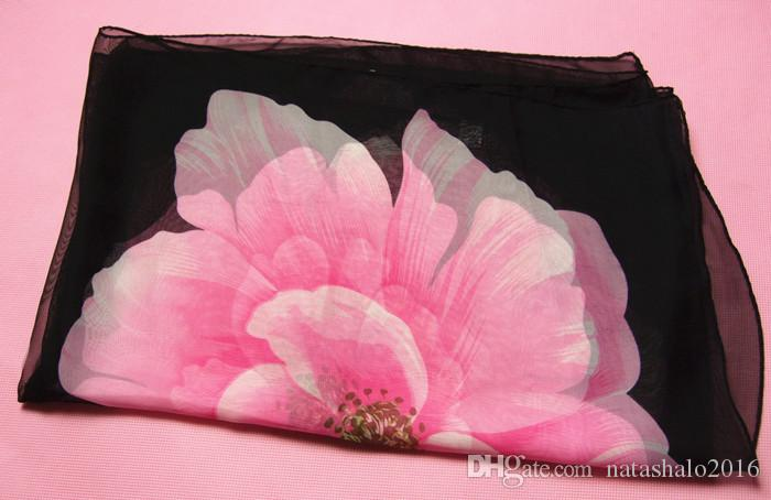 Vintage Chiffon Scarf Fashion Accessories Women Shawls Beach Spring Summer Wraps Silk Scarves for Female Cheap Buy SS-011
