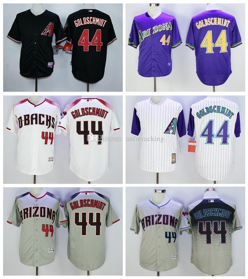 7c3a9723def ... Cool Base MLB Jersey 2017 Vintage 44 Paul Goldschmidt Jersey Purple  Arizona Diamondbacks Baseball Jerseys Goldschmidt All Satr Cooperstown  Black ...