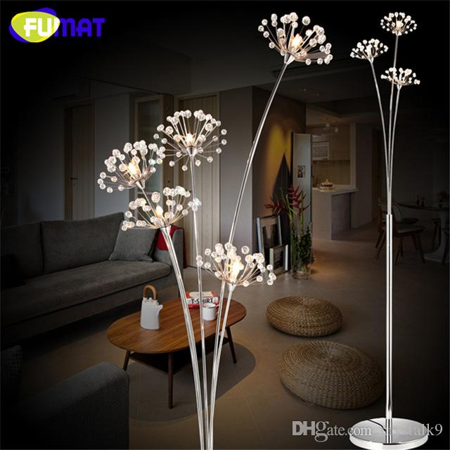 Fumat crystal floor lamp modern crystal floor light for living room fumat crystal floor lamp modern crystal floor light for living room bedside led flower stand lamp chrome finished floor lights crystal floor lamp modern mozeypictures Choice Image