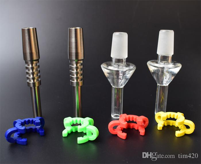 Mini Kit Micro Titanium Quartz Tip Tip 10 mm 14 mm 18 mm Quartz Ongles en titane Pour les tubes en verre Mini