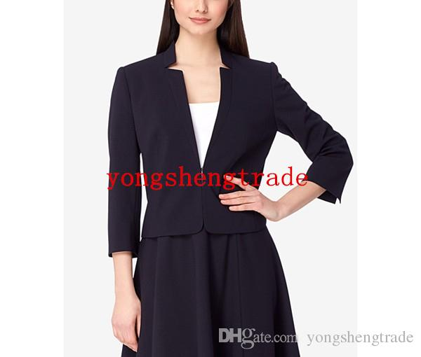 New Arrial Black Star-Collar A-Line Skirt Suit For Women Custom Made Women Business Suits hook-and-eye Closure Perfect For Any Occasion