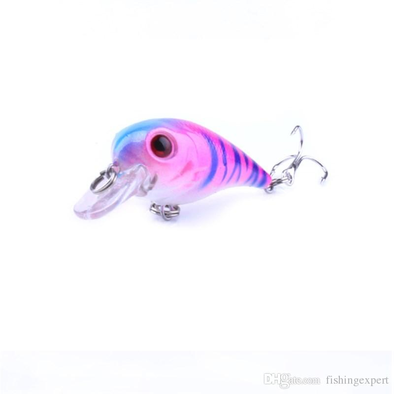 Hot Sale Roll Fishing Lures Crankbaits Non-polluting Plastic Fake Baits 5cm 5g Minnow Hard Baits of Colorful Fishing Tackle