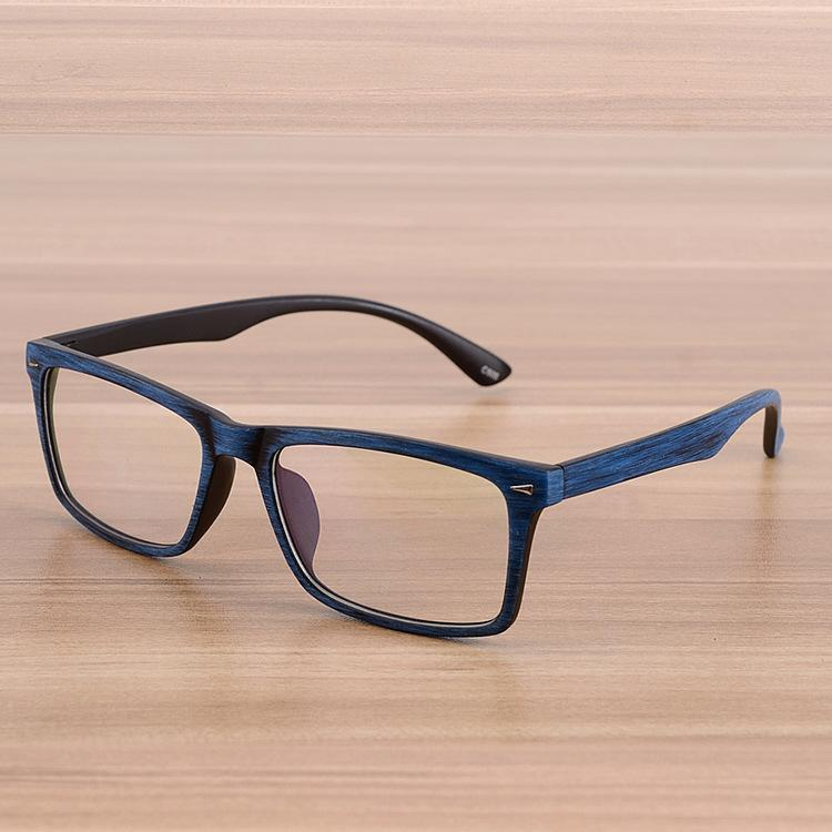 0824777bb10 2019 Wholesale Square Eyeglasses Frames Clear Lens Optical Frame Wooden  Imitation Presciption Glasses Frame Spectacle Eyewear Frames Women Men From  ...